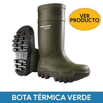 Bota thermo Dunlop Purofort+ verde
